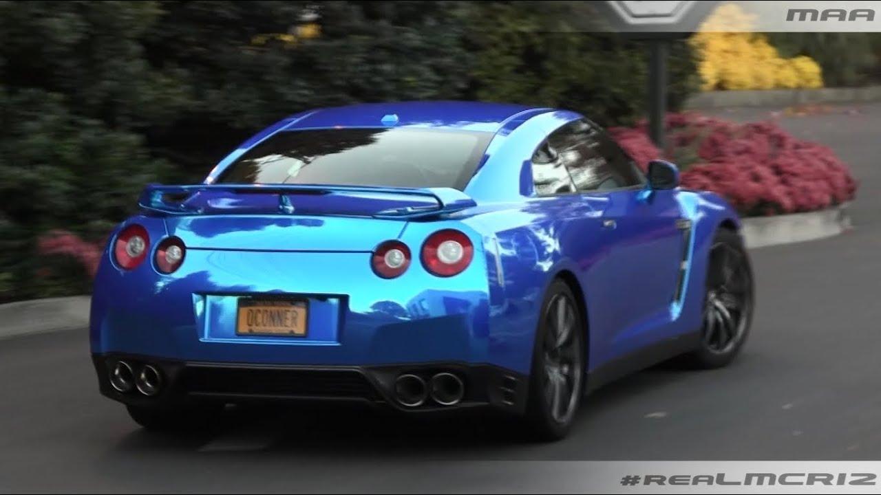 CHROME Blue Nissan GTR R35 - YouTube