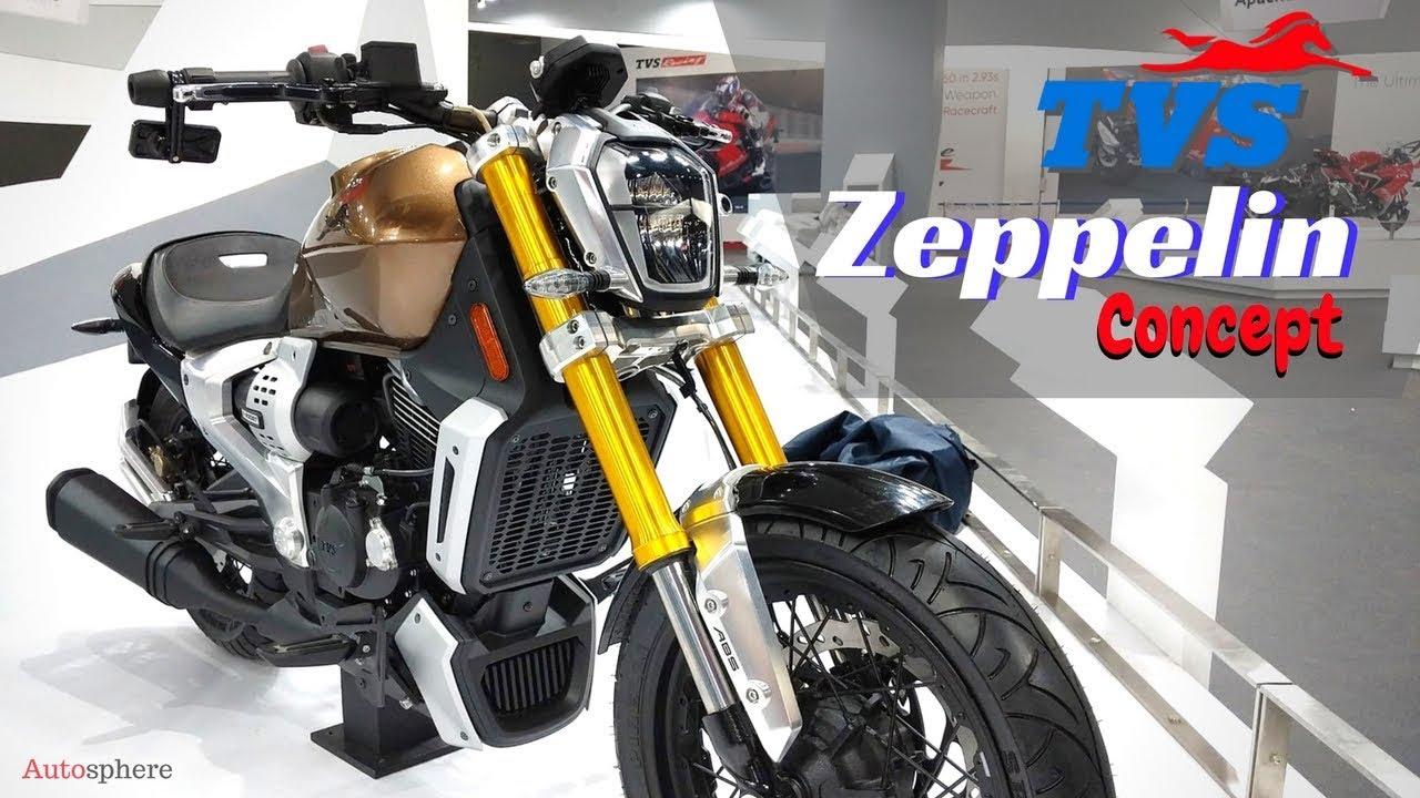 NEW HYBRID 2019 TVS Zeppelin Concept 220 cc (1200W electric motor)