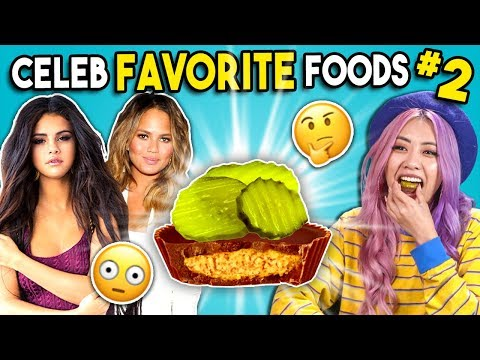 Trying Celebrity Favorite Foods | People Vs. Food