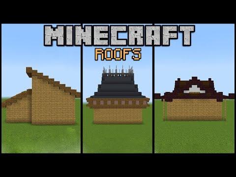 10 Minecraft Roof Designs Minecraft Build School Youtube
