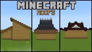 10 Minecraft Roof Designs! (Minecraft Build School)