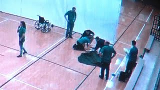 School staff saves student who collapsed at gym
