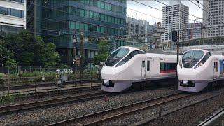 【ときわ】E657系 特急 ときわ(東北デスティネーションキャンペーン ラッピング車両)@新橋〜品川(田町駅)
