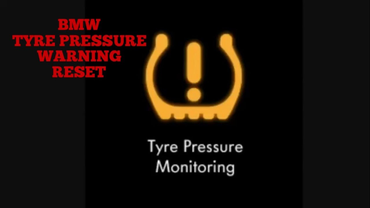 How To Reset Bmw Tyre Pressure Warning System On A 3 Series E90 E91 Tpws Flat Tyre Light Youtube