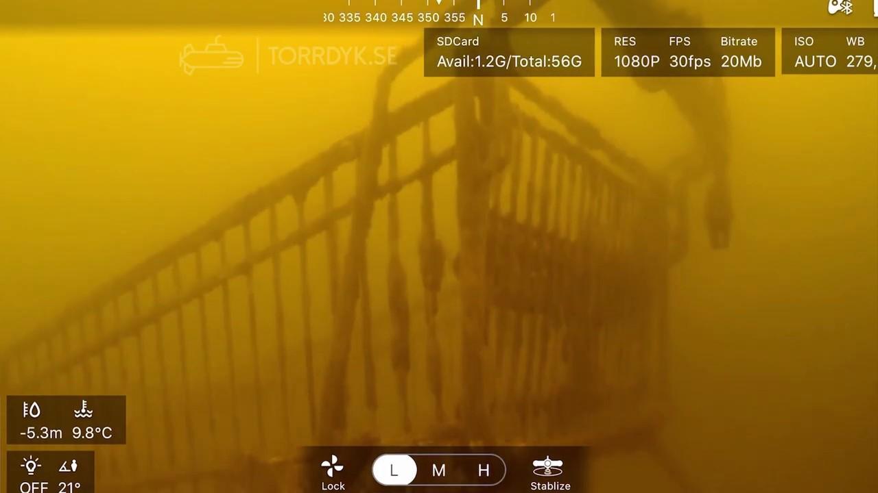 Torrdyk.se undervattensinspektion av Kristineberg Strand i Stockholm för Rena Mälaren - Maj 2020