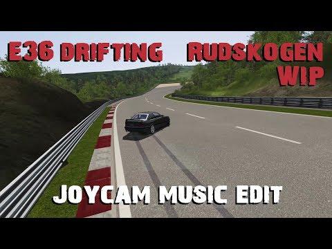 Assetto Corsa Rudskogen WIP E36 drifting Joycam music edit