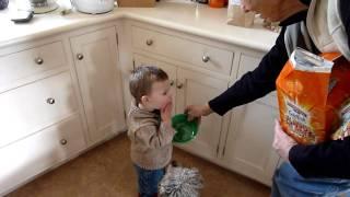 Luke loves Goldfish crackers