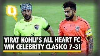 Virat kohli's all heart fc rout abhishek bachchan's all stars fc | the quint