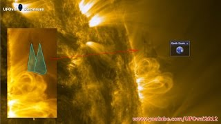 L'Ufo più grande della Terra fotografato vicinissimo alla superficie solare