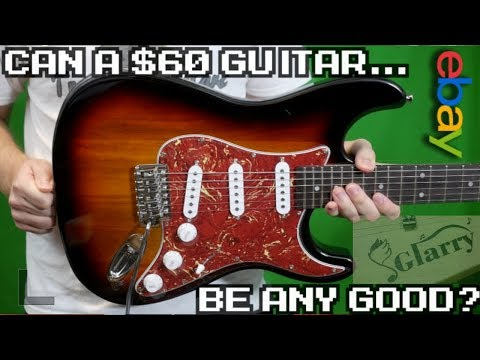 It's Only $60! But Is It Any Good? Glarry Guitar ST3 EBay Stratocaster Sunburst | Review + Demo