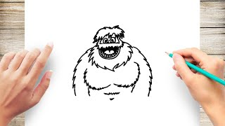 How to Draw a Bumble Abominable Snowman Step by Step