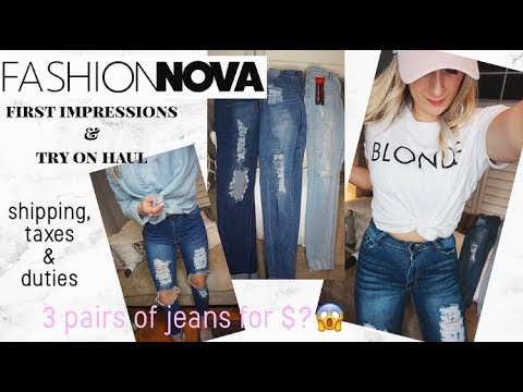 Fashion Nova Jeans First Impressions & Try On Haul   Coupon Code