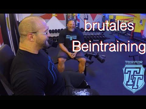 Team Trenzformer brutales Beintraining mit Marius Motsch und Stan Adam