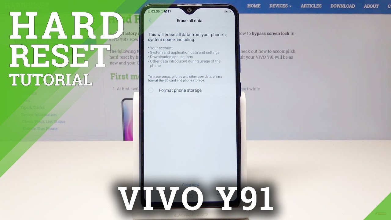 How to Perform Hard Reset on VIVO Y91 - Factory Reset via Settings