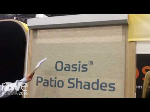 CEDIA 2016: Insolroll Introduces the Oasis Patio Shades Driven by Lutron