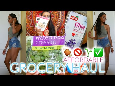 CHEAP VEGETARIAN GROCERY HAUL | What I Eat To Stay Lean || Under $50 • Lawenwoss