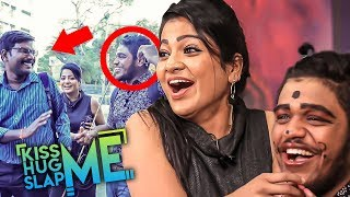 Extreme Fun Prank in Public with Pandian Stores Chithra | Kiss Me😘 Hug Me🤗 Slap Me👋