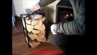 Woodwalla Adjustable Log Rack Storage System