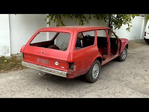 Ремонт автомобиля. Ford Granada. [Часть 9] Разборка машины. Подготовка к кузовным работам
