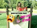 Babysitting Fail SKIT Disaster At Park Curious Baby Will Gia Find Her Sister mp3