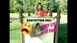Babysitting Fail SKIT! Disaster at Park! Curious Baby, will Gia find her sister?