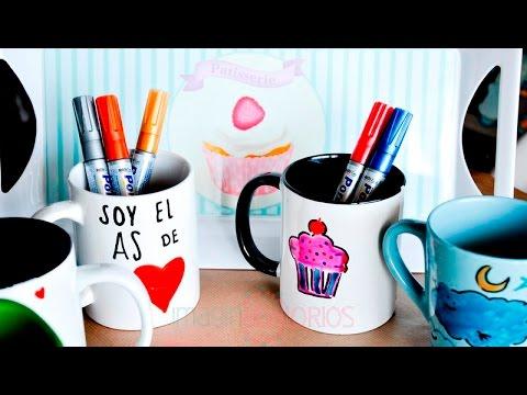 Decorar tazas de cer mica con rotuladores youtube for Decoracion con tazas de cafe