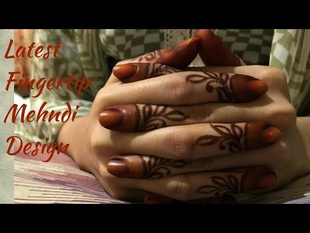 Easy/Latest Finger Tip|Attractive Finger Tip Mehndi Design|New Finger Tip Mehndi Design|