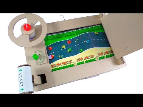 How To Make Car Racing Desktop Game from Cardboard!