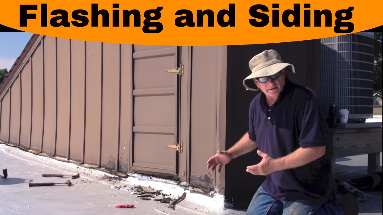 Exceptional Flat Roof   Flashing And Siding Causes The Most Problems.   YouTube