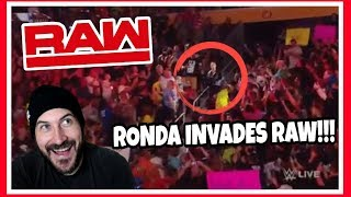 Ronda Rousey INVADES WWE Raw ATTACKS Alexa Bliss & Mickie James Reaction July 16, 2018