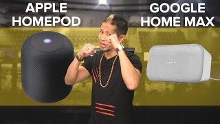 Apple HomePod vs. Google Home Max (CNET Prizefight)