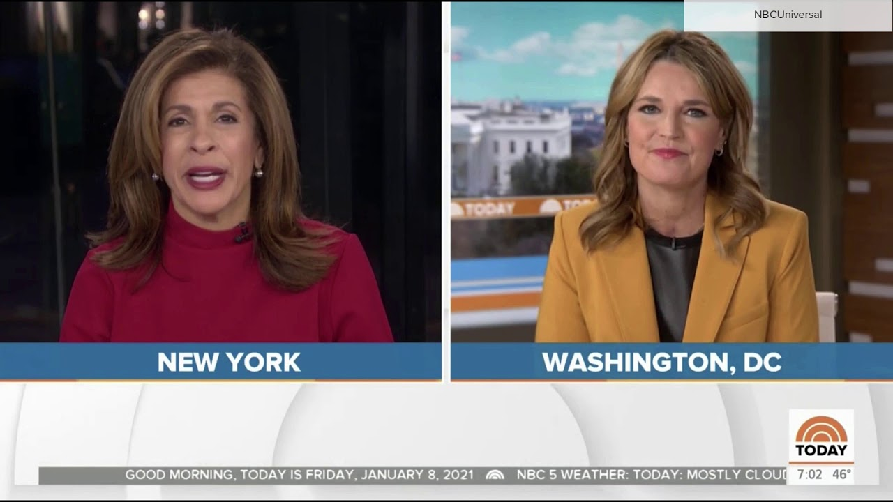 NBC News 'Today' teases and open Jan. 8, 2021