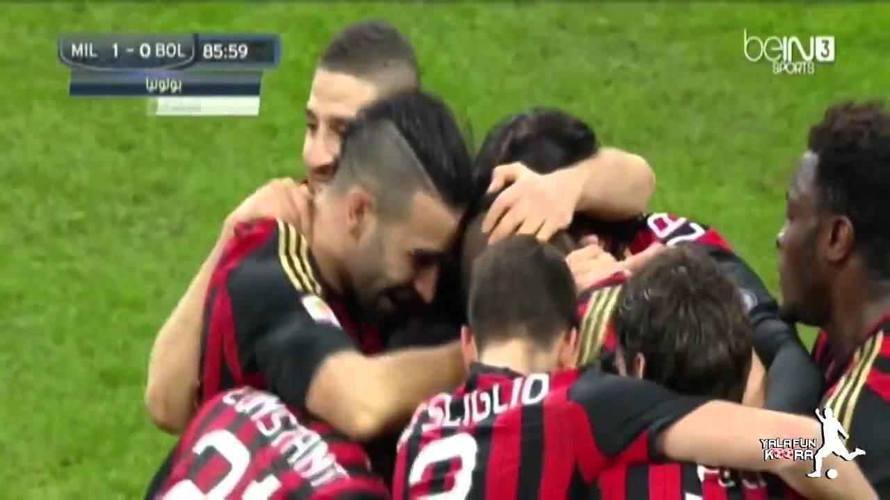 AC Milan vs Bologna 1 - 0 Mario Balotelli Fantastic Goal ...