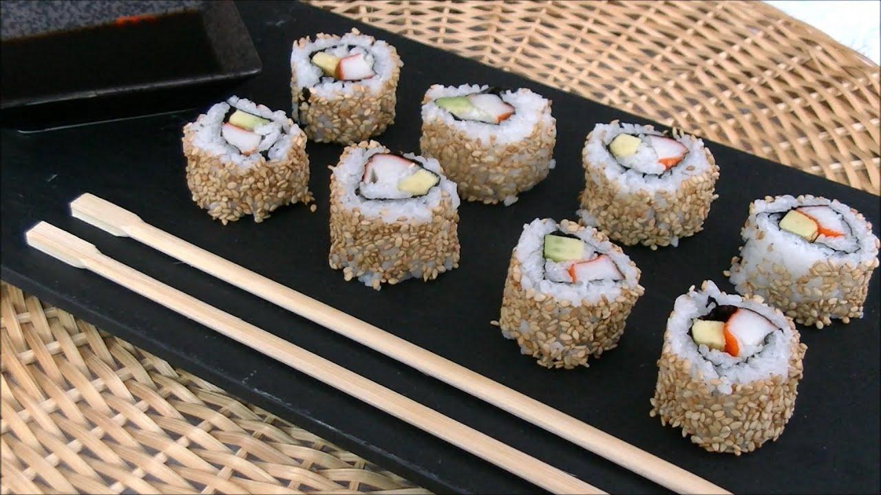 california roll sushi uramaki sushi youtube. Black Bedroom Furniture Sets. Home Design Ideas
