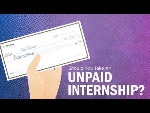 Should You Take an Unpaid Internship?