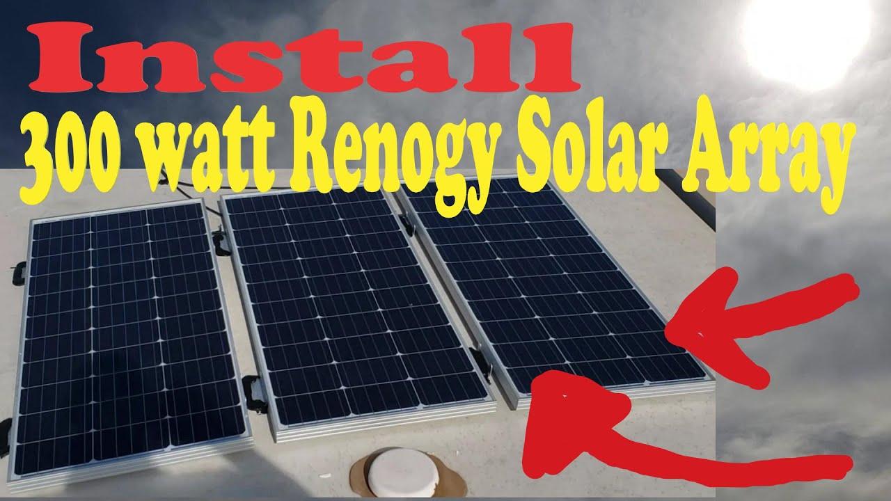 Install an Amazon 300watt Renogy Solar System