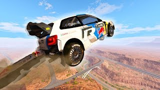 I DROVE OFF A CLIFF! - BeamNG Drive Cliffside Rally Racing!