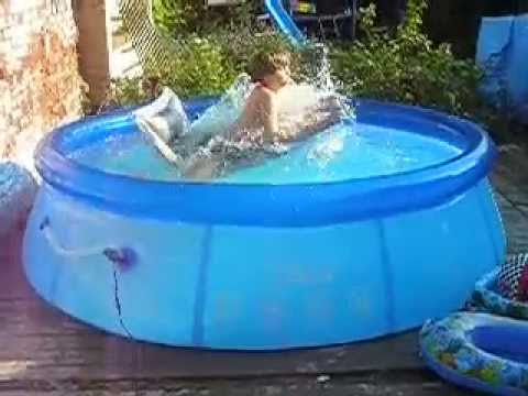 Pool youtube for Piscine intex 244 avec filtre