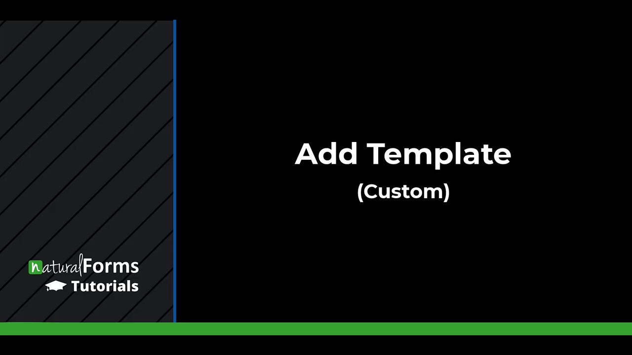 Adding Custom Templates
