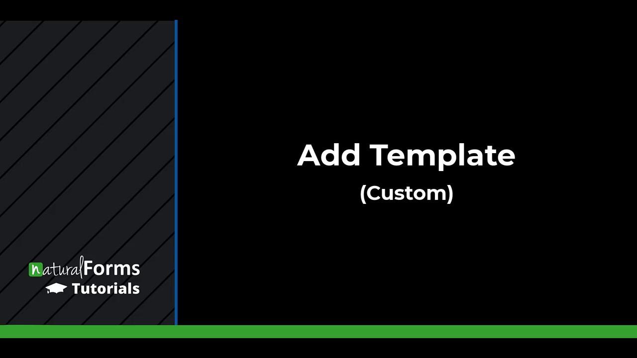 Adding Custom Templates