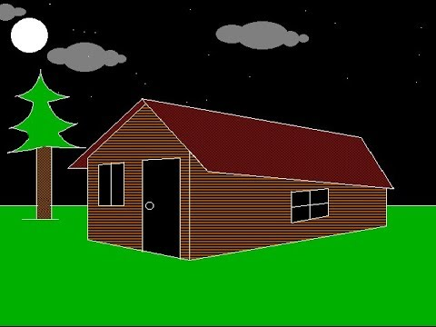 Computer Graphics program to draw a colorful Hut in c ...