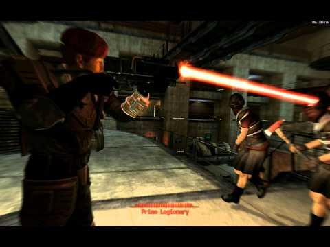 Fallout New Vegas Gameplay, Part 107. Flushing the Legionnaires through the Turbines (Final Battle)