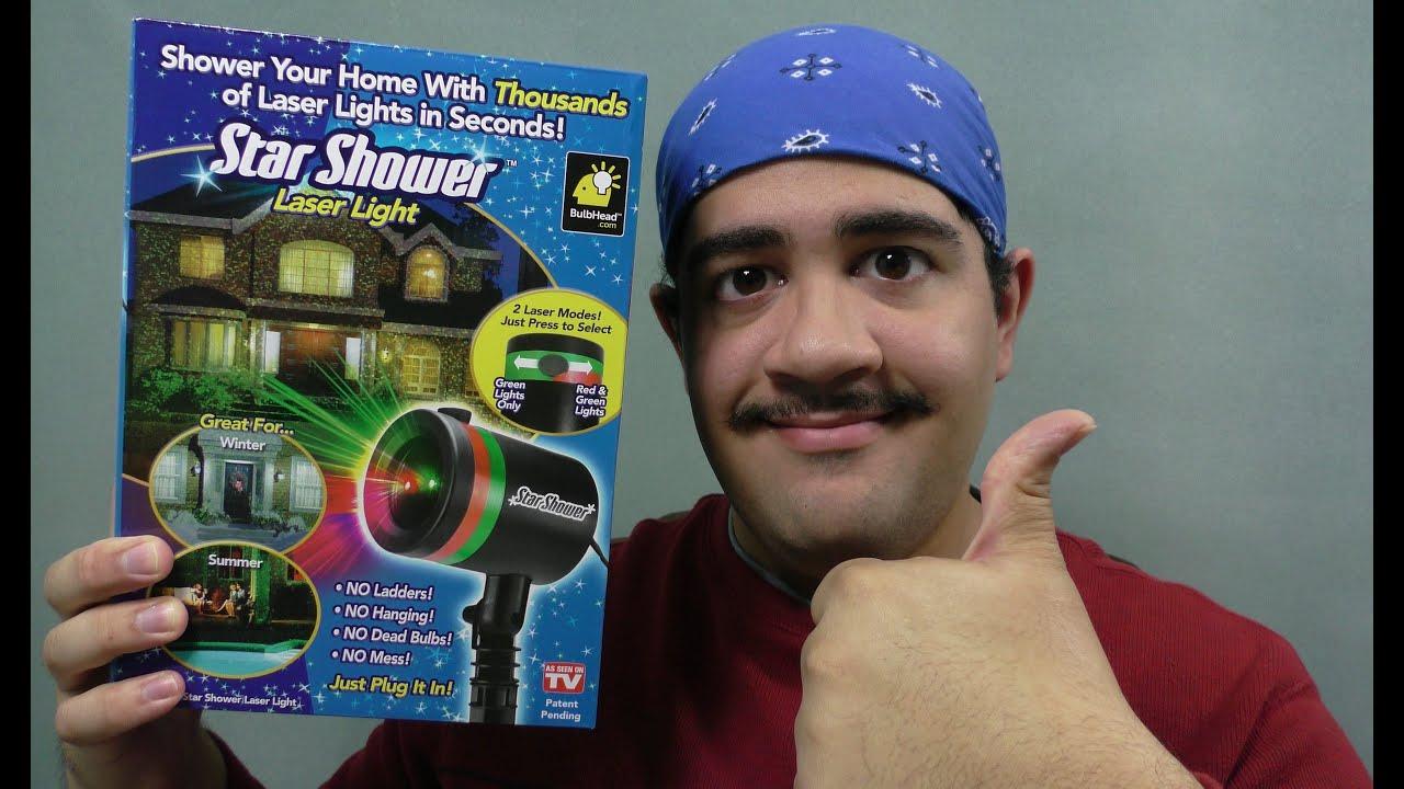Star Shower Laser Light review - YouTube
