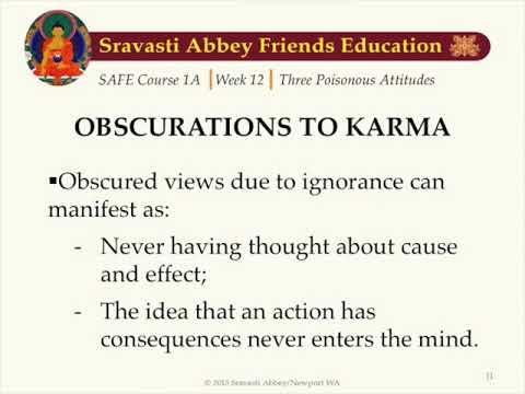 SAFE 1A Week 12: The Three Poisonous Attitudes