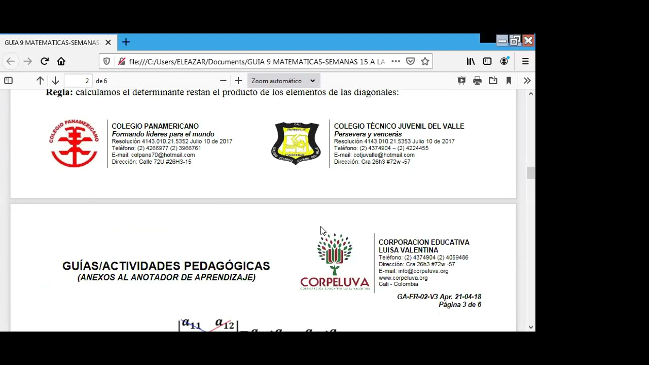 28/05/2021-MATEMATICAS 9°-SEMANA 15-DETERMINANTES.
