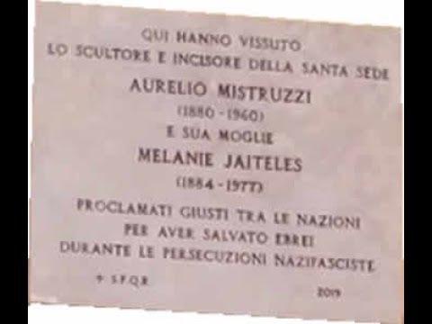 Inaugurazione targa Aurelio Mistruzzi