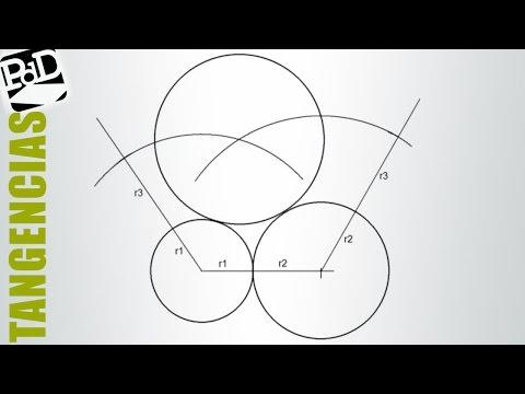 Trazar 3 circunferencias tangentes conocidos sus radios.