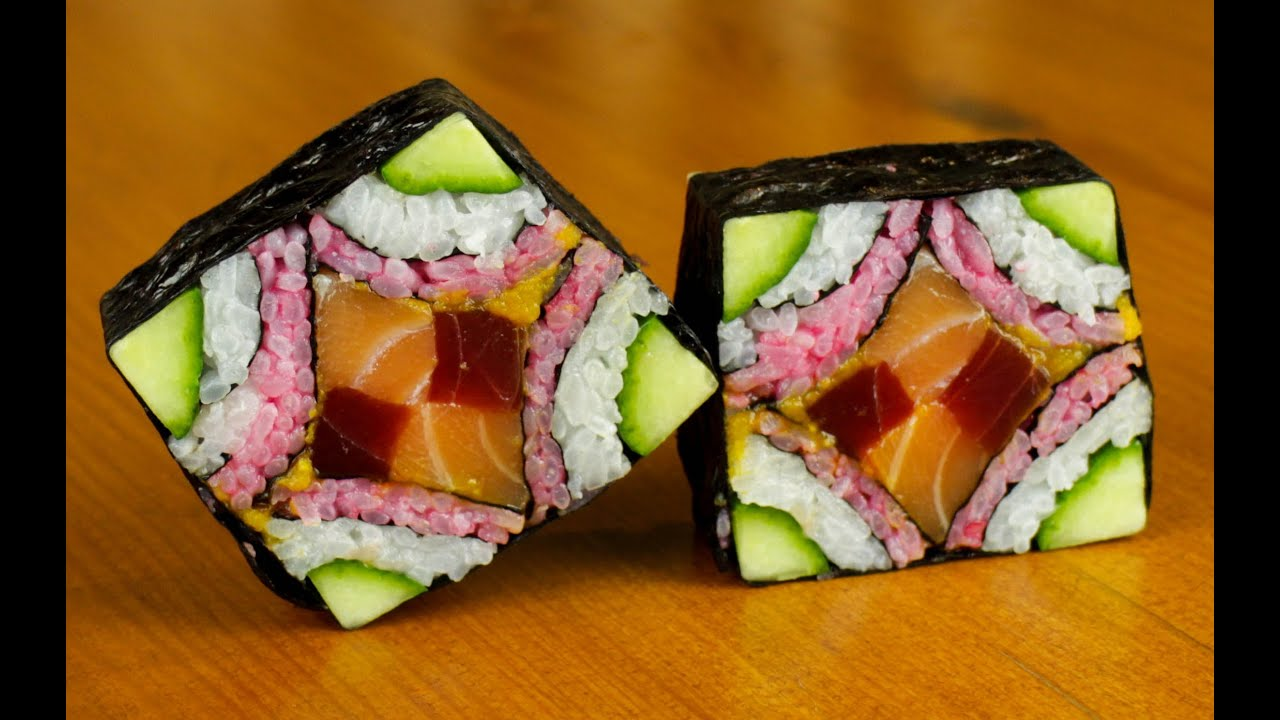Mosaic sushi roll evolution food recipe youtube forumfinder Gallery
