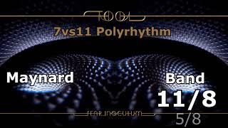 7 Vs 11 Polyrhythm on Fear Inoculum by Tool (Read Description)