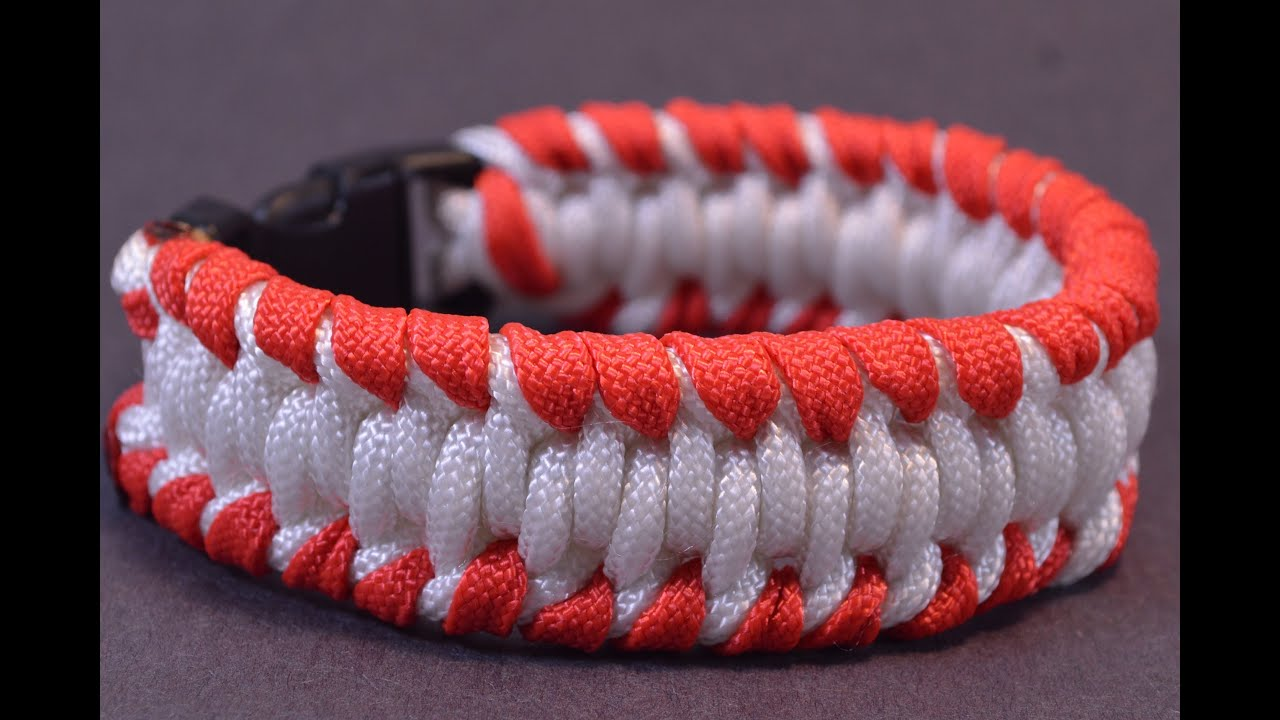 How to Make a Baseball & Softball Inspired Paracord Bracelet - BoredParacord